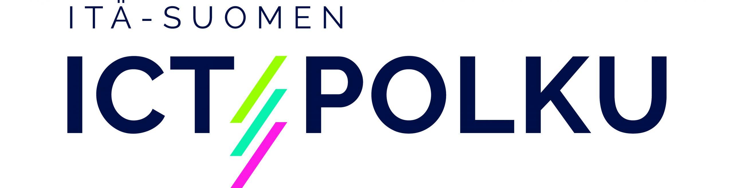 Logo, jossa lukee Itä-Suomen ICT-polku.